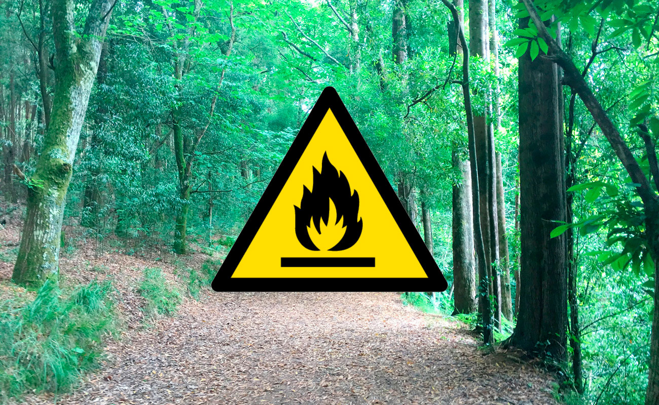 Época de peligro alto de incendios
