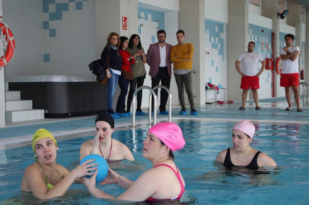 La piscina de Herrera pionera en la preparación al parto